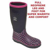 Wyre Valley TRENT Mucker Neoprene Lined Wellington Farm Stable Yard Boots S 5-12