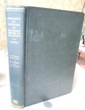 SUBSTANCE & FUNCTION & EINSTEIN'S THEORY Of RELATIVITY,1923,Ernst Cassirer