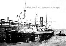 Photo 5x7: The Carpathia At Pier 54, NY, Flags At Half-Mast, April 18th, 1912