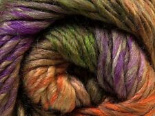 100 Gram Iona Island Donna #27196 Ice Wool Bl Yarn Purple Orange Green Tan 191yd