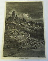 1882 magazine engraving ~ THE CATHEDRAL OF SEGOVIA