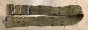 Original WWII WW2 US Army Military M1936 Web Gear Pistol Uniform Belt
