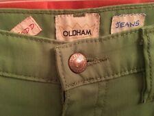 32w 31L Vintage TODD OLDHAM Shiny Chartreuse Stretch Men's JEANS Cowboy Cut