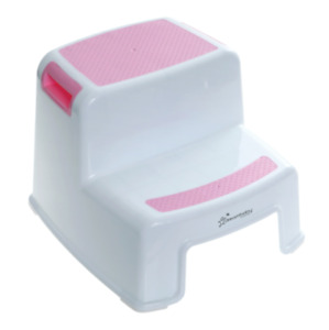 Portable Step Stool 2-Up, Toddler and Kids, Slip Resistant, Lightweight Plastic