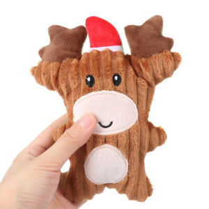 New Christmas Pet Dog Toys Ch Pet Plush Toys For Dogs Cute Biting Rope Sound