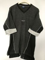 Vintage 90s ASICS Small Logo T Shirt Grey | Extra Large XL | Top