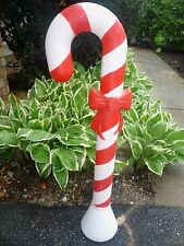 """CLASSIC 30"""" UNION CANDY CANE CHRISTMAS BLOW MOLD LIGHT UP YARD DECOR"""