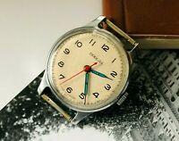 Soviet Vintage Pobeda 1 MChZ  Wristwatch Original Old USSR 1955 year