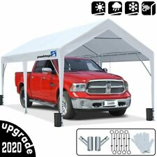 Peaktop Outdoor 10'X20' White Heavy Duty Garage Storage Shed Canopy Carport Tent