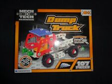 Mech Tech Metal Construction Toys 107pcs Dump Truck Metal & Plastic Parts Age 6+