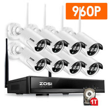 ZOSI 8CH 960P Wireless NVR Outdoor Network Security IP Camera System Wi-Fi 1TB