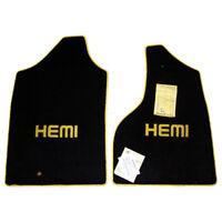 Dodge RAM HEMI Truck Front Floor Mats - Custom HEMI Embroidery Color - 32oz 2PLY