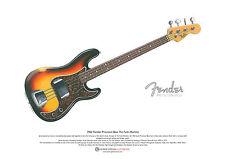 James jamerson's 1962 Fender Precision Bass art poster format a3
