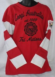 Authentic COOGI Red & White RUGBY SHIRT Sweater BIG XXL
