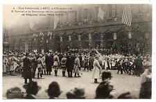 ARMISTICE GRANDE GUERRE.METZ.DéCEMBRE 1918.PRéSIDENT POINCARé.DéFILé DéLéGATIONS