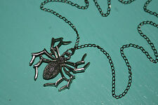20 inch Black and Silver Spider Tarantula Necklace