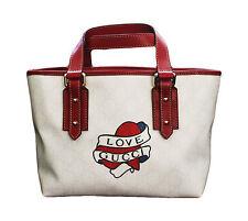 NEW GUCCI Heart Tattoo Tote Top Handle BAG HANDBAG w/Love Gucci,Cute,257249 9091