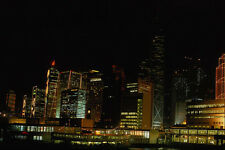 805075 Hong Kong At Night With Star Ferry Passenger Craft A4 Photo Print