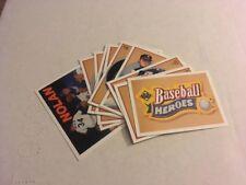 "COMPLETE INSERT SET- 1991 UPPER DECK BASEBALL NOLAN RYAN ""HEROES"" SET (10 CARDS)"