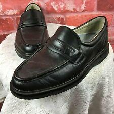 Rockport Women's Black Leather Brazilian Vibram Sole Loafers 6 W