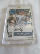 2017 Donruss Optic BB RATED ROOKIE #AJ Aaron Judge NY Yankees AUTOGRAPH RC !!