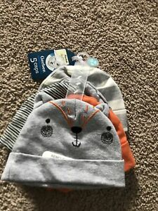 Gerber Baby Hat Set 5pcs. 0-6 Month NWT