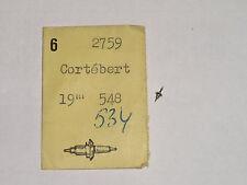 Cortebert balance staff 534 548 axe de balancier Unruhwelle DCN 2759
