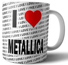 Me encanta Metallica-Taza de Té Café - - Taza-Regalo Cumpleaños-Navidad -