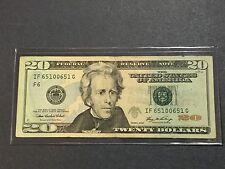 "$20 Dollars Bill Series 2006 (Atlanta), ""Bookend Banknote"" 651 00 651 Fancy Note"