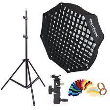 Godox 80cm Octagon honeycomb grid Umbrella Softbox and Light Stand kit
