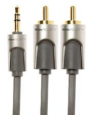 Techlink WiresAcuity 3.5mm Stereo mini Jack to 2 RCA / Phono Plugs 1m 720021