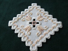 Hardanger  Small Doily Norwegian Embroidery Cut Work