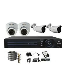 CamVtech AHD 720P 4CH Security System - Four AHD 1.3 MP IP66 Bullet and Dome Cam