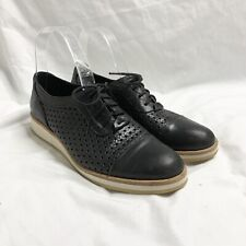 Django And Juliette Lace Up Brogues Black Leather 'Cedunat' Size 38