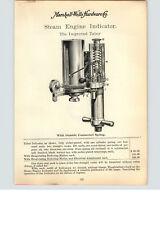 1900s PAPER AD Tabor Steam Engine Indicator Revolution Counter Round Square