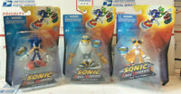 JAZWARES Free Riders SONIC HEDGEHOG Set Lot 3 Sonic Tails Storm Figures RARE