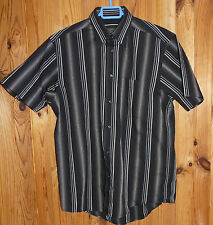 Chemise homme chic à manches courtes GREGGIO taille 2 ( 37-38)