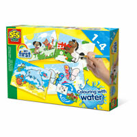 SES CREATIVE Children's My First Colouring with Water Set, 4 Cards, 1 to 4 Years