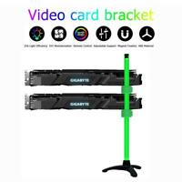 Transparent Graphics Card Bracket Holder Aura RGB Video Card Support Stand  JF#E