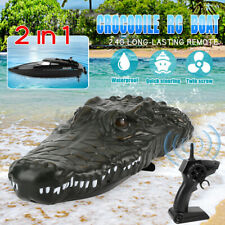 RC Boat 2.4G Remote Control Electric Racing Boat Lifelike Crocodile Head Waterpf