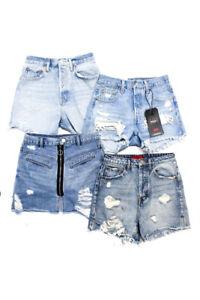 Bandier Levis BlankNYC Signature 8 Womens Denim Shorts Skirt Size 25 Small Lot 4