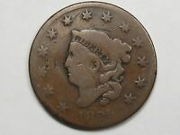 AG Better-Date 1825 US Coronet Head Large Cent Coin.  #15