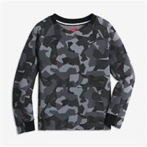 Nike Tech Fleece Crew AOP Little Boys Size 7/ L (6-7 Yrs Old) Black and Grey