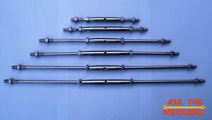 M8 Adjustable Dual Threaded Stud Rod Link Left Hand/Right Hand Thread 6 options