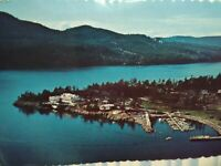 VINTAGE POST CARD AERIAL VIEW OVER ROSARIO RESORT ORCAS ISLAND WA