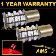 2X 382 1156 BA15s 207 P21W XENON RED 48 SMD LED REAR FOG LIGHT BULBS RF202203