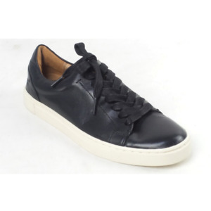 Frye Leather Lace Up Sneakers Ivy Low Lace Black