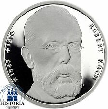 BRD 10 DM Robert Koch 1993 Silber Spiegelglanz Münze in Münzkapsel