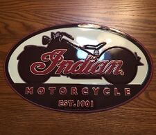 INDIAN MOTORCYCLE Metal Sign Chief Harley Davidson Retro Style American Oil