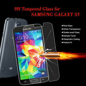 For Samsung Galaxy S5 .40mm Tempered Shatterproof Glass Screen Cover Protector